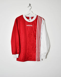 Adidas Long-Sleeve Football T-Shirt - Small