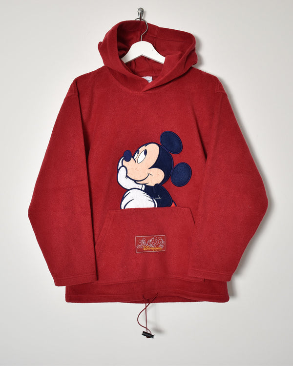 Disney Fleece Hoodie - Medium - Domno Vintage 90s, 80s, 00s Retro and Vintage Clothing