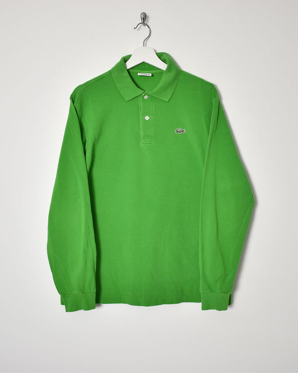 Lacoste Long Sleeve Polo Shirt - Small - Domno Vintage 90s, 80s, 00s Retro and Vintage Clothing