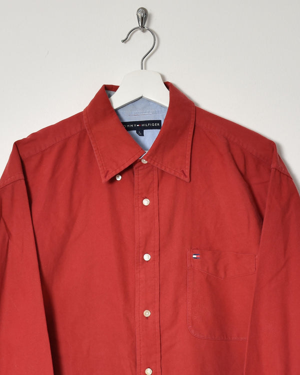 Tommy Hilfiger Shirt - Large - Domno Vintage 90s, 80s, 00s Retro and Vintage Clothing