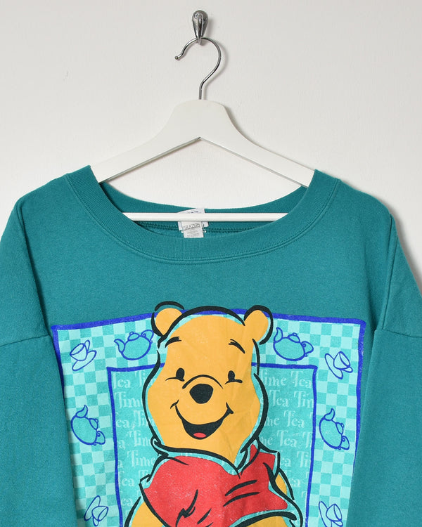 Winnie The Pooh Sweatshirt - Large - Domno Vintage 90s, 80s, 00s Retro and Vintage Clothing