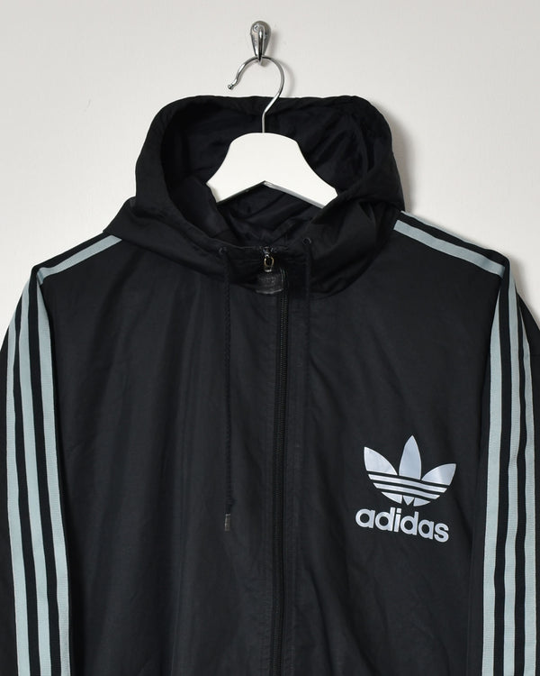 Adidas Hooded Jacket - Large - Domno Vintage 90s, 80s, 00s Retro and Vintage Clothing