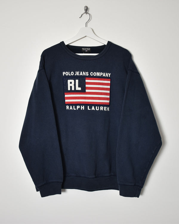 Ralph Lauren Polo Jeans Company Sweatshirt - X-Large - Domno Vintage 90s, 80s, 00s Retro and Vintage Clothing