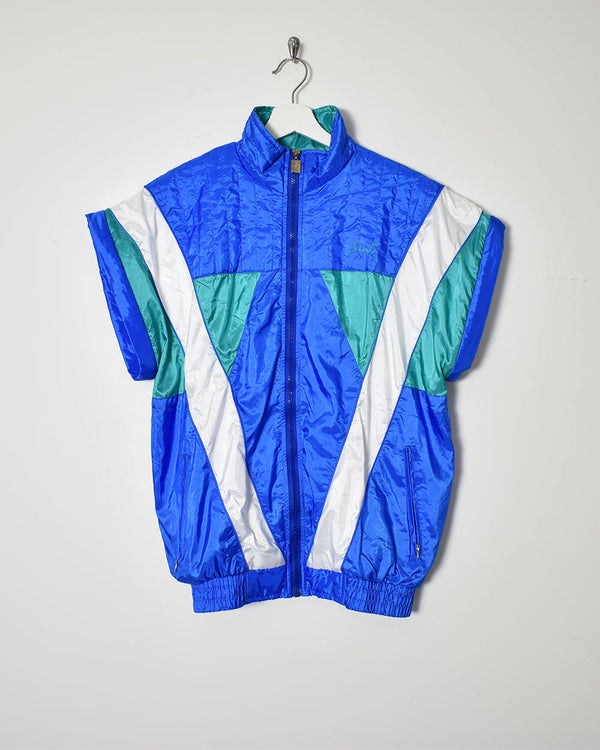 Vintage 90s Sleeveless Shell Jacket - Medium