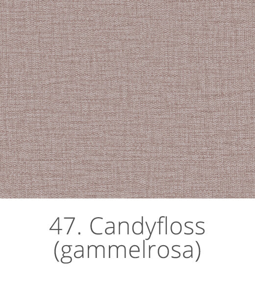 polyester i gammelrosa (candyfloss)
