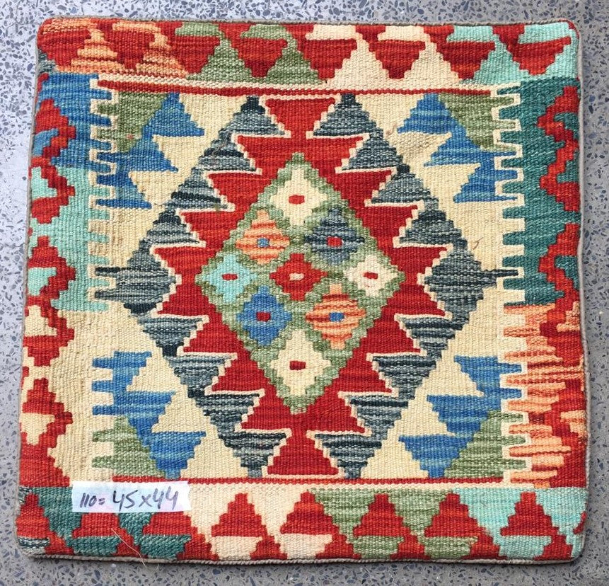 Hand knotted Cushion cover 110 size 45 x 44 cm Afghanistan