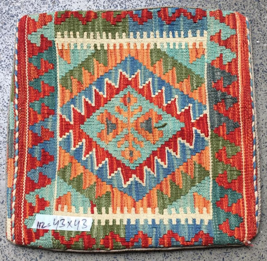 Hand knotted Cushion cover 8 size 43 x 43 cm Afghanistan