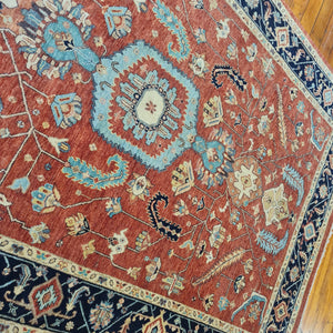 Hand knotted wool Rug 175274 size 274 x 175 cm India