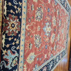 Hand knotted wool Rug 155241 size 241 x 155 cm India