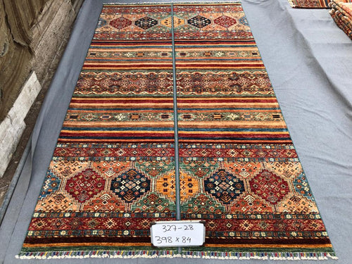 Hand knotted wool Rug 328 size 301 x 84 cm Afghanistan