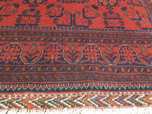Load image into Gallery viewer, Hand knotted wool Rug 8 size 197 x 126 cm KUNDUS Afghanistan