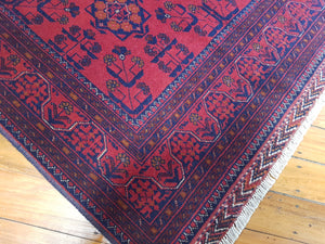 Hand knotted wool Rug 8 size 197 x 126 cm KUNDUS Afghanistan