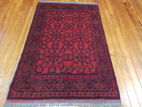 Hand knotted wool Rug  9061 size 195 x 127 cm Afghanistan