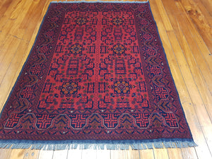 Hand knotted wool Rug 9065 size 196 x 143 cm Afghanistan