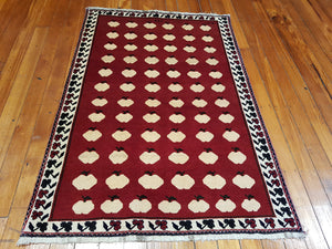 Hand knotted wool  Rug 3801 size 178 x 123 cm Iran