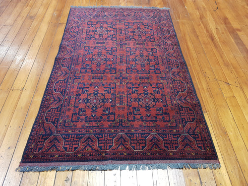 Hand knotted wool Rug 9005 size 198 x 125 cm Afghanistan