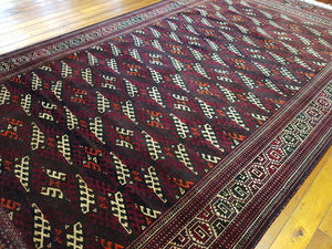 Hand knotted wool Rug 772 size 343 x 194 cm Afghanistan
