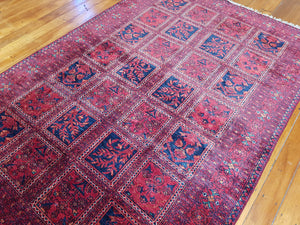 Hand knotted wool Rug 2239 size 154 x 230 cm Afghanistan