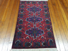 Load image into Gallery viewer, Hand knotted wool Rug 14 size 143 x 85 cm Afghanistan