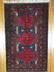 Hand knotted wool Rug 9 size  155 x 97 cm Afghanistan