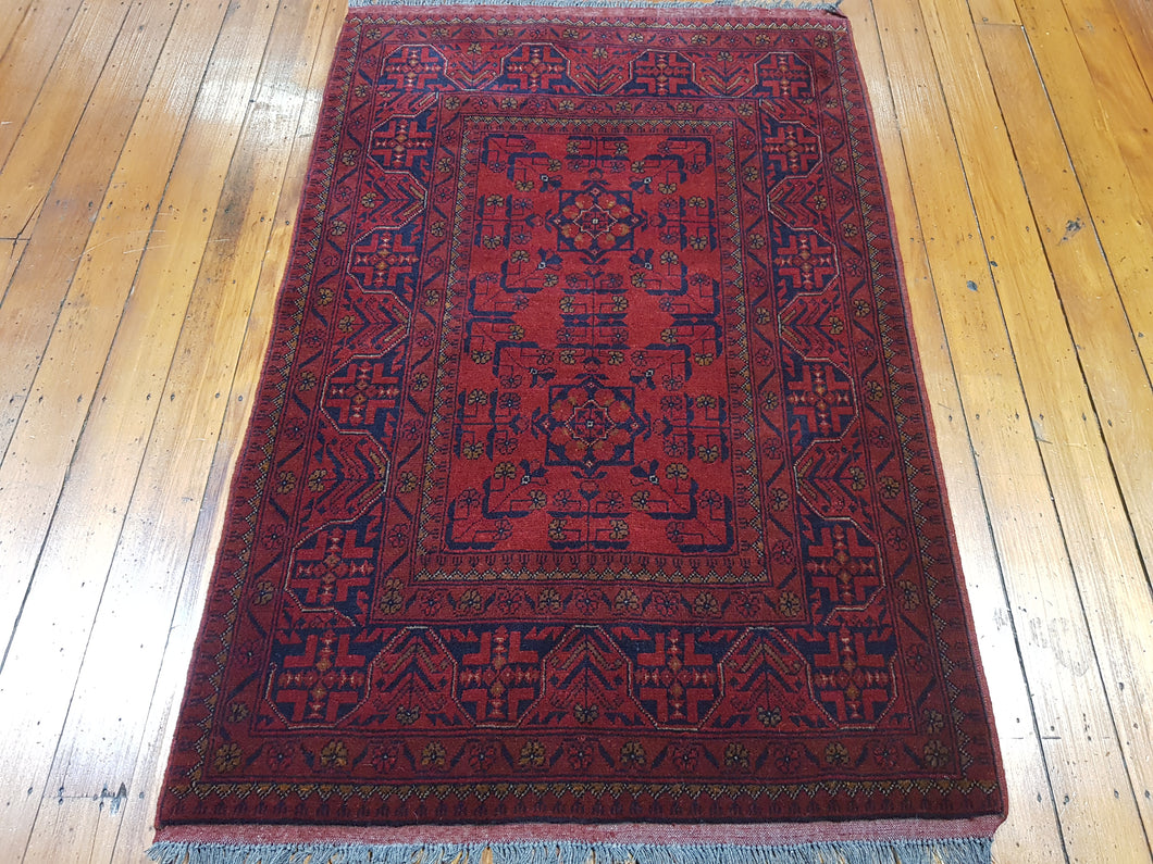 Hand knotted wool Rug 26 size 150 x 100 cm Afghanistan