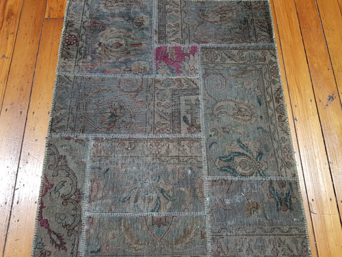 Hand knotted wool Rug 048 size 158 x 79 cm Afghanistan