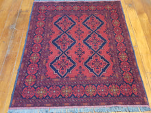 Load image into Gallery viewer, Hand knotted wool Rug 33 size 141 x 100 cm Afghanistan