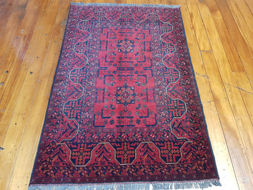 Hand knotted wool Rug 9014 size 152 x 98 cm Afghanistan