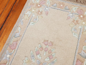Hand knotted wool Rug 5095 size 140 x 70 cm India