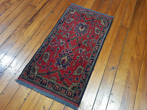 Hand knotted wool Rug 17 size 100 x 50 cm Afghanistan