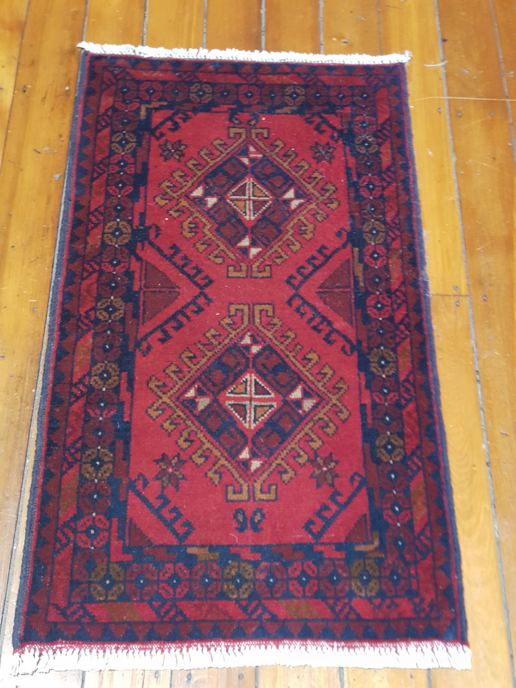 Hand knotted wool Rug 18 size 96 x 52 cm Afghanistan