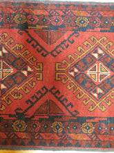 Load image into Gallery viewer, Hand knotted wool Rug 18 size 96 x 52 cm Afghanistan