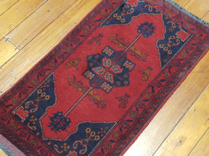 Hand knotted wool Rug 15 size 91 x 50 cm Afghanistan
