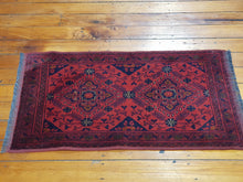 Load image into Gallery viewer, Hand knotted wool Rug 19 size 50 x 100 cm Afghanistan