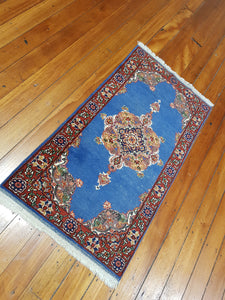 Hand knotted wool Rug 12064 size 120 x 64 cm Afghanistan