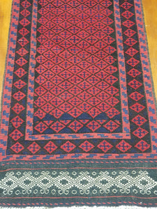 Hand knotted wool Rug 28 size  249 x 61 cm Afghanistan