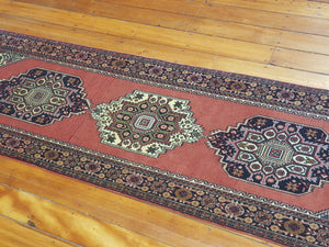 Hand knotted wool Rug  48 size 203 x 61 cm Iran