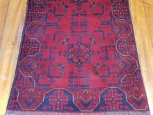 Load image into Gallery viewer, Hand knotted wool Rug 9007 size 194 x 75 cm Afghanistan