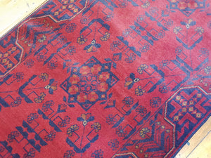 Hand knotted wool Rug 9007 size 194 x 75 cm Afghanistan