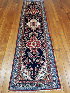 Hand knotted wool Rug 23080 size 312 x 78 cm Iran