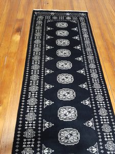 Hand knotted wool Rug  17 size 306 x 78 cm Pakistan