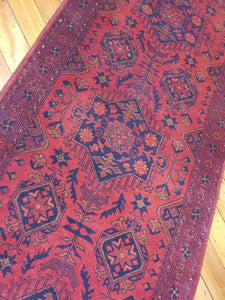 Hand knotted wool Rug 28 size  382 x 80 cm Afghanistan