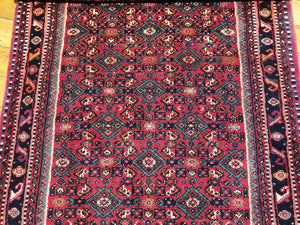 Hand knotted wool Rug  14408 size 590 x 90 cm Iran