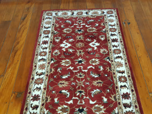 Hand tufted wool Rug  SQHT 51 size 400 x 80 cm India