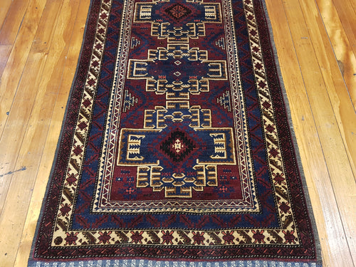 Hand knotted wool Rug 7668 size 183 x 108 cm Afghanistan