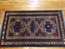 Load image into Gallery viewer, Hand knotted wool Rug 7668 size 183 x 108 cm Afghanistan