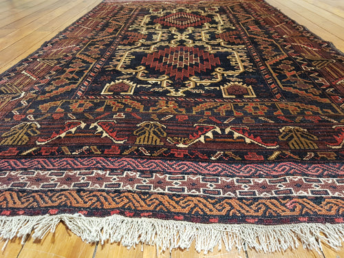 Hand knotted wool Rug 7939 size 196 x 116 cm Afghanistan
