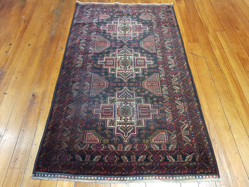 Hand knotted wool Rug 9031 size 181 x 106 cm Afghanistan