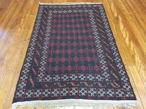 Hand knotted wool Rug 7848 size 200 x 129 cm Afghanistan