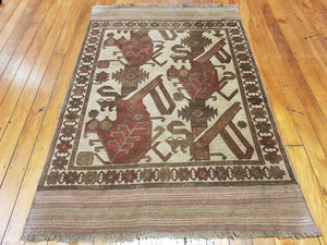 Hand knotted wool Rug 1137 size 130 x 195 cm Afghanistan